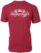 "Men's ""UNCONQUERABLE"" Red T-Shirt White Logo"