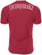 "Men's ""UNCONQUERABLE"" Red T-Shirt White Shoulder Logo on Back"